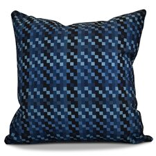 Echo Mad for Plaid Geometric Outdoor Throw Pillow