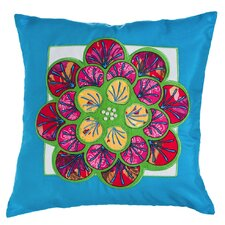 Jamison Jeweled Garden Flower Indoor/Outdoor Throw Pillow