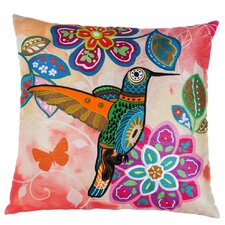 Deandre Bright Botanical Hummingbird Indoor/Outdoor Throw Pillow
