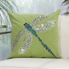 Bangor Beaded Dragonfly Indoor/Outdoor Throw Pillow