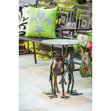 Amazing Soluri 3 Frogs Standing Side Table
