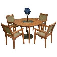 Royston 5 Piece Eucalyptus Dining Set