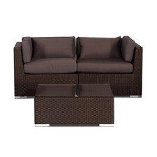 Aloha Makena Outdoor 3 Piece Deep Seating Group with Cushion