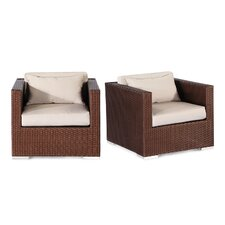 2017 Sale Aloha Hilo Outdoor Deep Armchair with Cushions (Set of 2)
