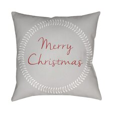 Merry Christmas Indoor/Outdoor Throw Pillow