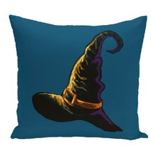 #1 Witch Hat Outdoor Throw Pillow