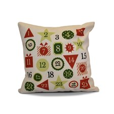 Advent Calendar Outdoor Throw Pillow