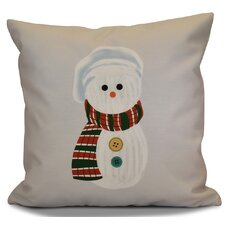 Sock Snowman Outdoor Throw Pillow