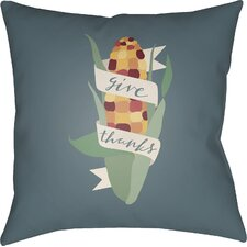 Give Thanks Indoor/Outdoor Throw Pillow