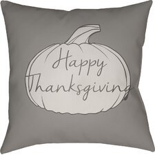 Best Choices Happy Thanksgiving Indoor/Outdoor Throw Pillow