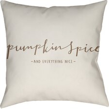 Pumpkin Spice Indoor/Outdoor Throw Pillow