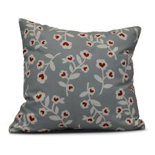 Valentines Floral Indoor/Outdoor Throw Pillow