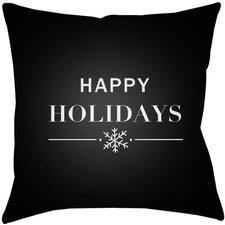 Happy Holidays Indoor/outdoor Throw Pillow
