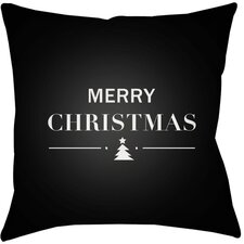Merry Holiday Indoor/outdoor Throw Pillow