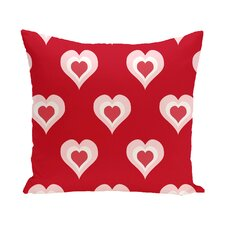Valentine's Day Outdoor Throw Pillow