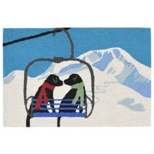 Ski Lift Love Indoor/Outdoor Throw Pillow