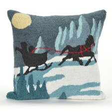 Sleigh Ride Indoor/Outdoor Throw Pillow