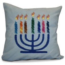 Hanukkah 2016 Decorative Holiday Geometric Outdoor Throw Pillow