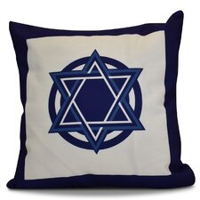 Wonderful Hanukkah 2016 Decorative Holiday Geometric Outdoor Throw Pillow
