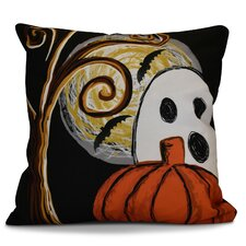 Flipping for Fall Ooky Spooky Geometric Outdoor Throw Pillow