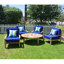 Huntington 5 Piece Deep Seating Group with Cushion