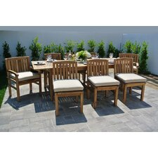 Huntington 9 Piece Dining Set with Cushions