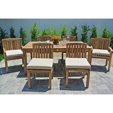 Huntington 7 Piece Dining Set with Cushions