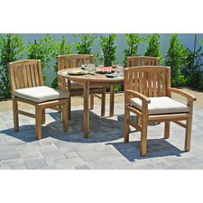 Huntington 5 Piece Dining Set with Cushions