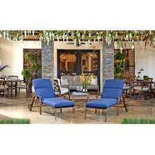 Outdoor 3 Piece Lounge 2 Person Seating Group with Cushion