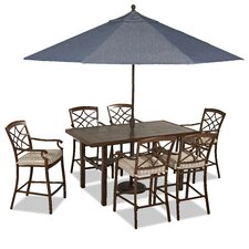 Coupon Outdoor 7 Piece Dining Set with Cushions
