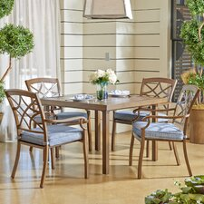 Comparison Outdoor 5 Piece Dining Set with Cushions