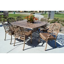 Sicily 9 Piece Dining Set with Cushions