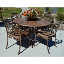 Sicily 5 Piece Dining Set with Cushions
