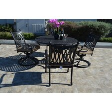Grand Tuscany 5 Piece Dining Set with Cushions