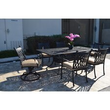 Grand Tuscany 7 Piece Dining Set with Cushions