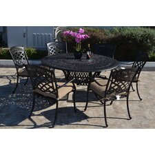 St. Augustine 7 Piece Dining Set with Cushions