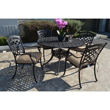 St. Augustine 5 Piece Dining Set with Cushions