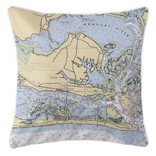 Furniture Stores In Morehead City Nc Island Girl Home Nautical Chart Ocean City, MD Throw Pillow