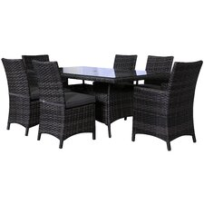 Bora Bora 7 Piece Dining Set with Cushion