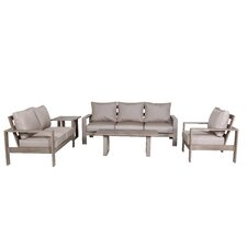Lovely Aruba 4 Piece Deep Seating Group with Cushions