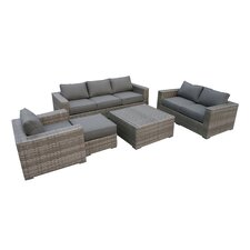 Bali 4 Piece Deep Seating Group with Cushion