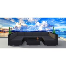 Black Series 9 Piece Deep Seating Group with Cushion