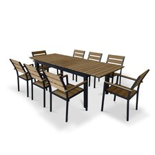 9 Piece Extendable Outdoor Dining Set