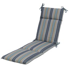 Quebec Stripe Pacific Outdoor Chaise Lounge Cushion