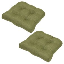 Great Reviews Outdoor Dining Chair Cushion (Set of 2)
