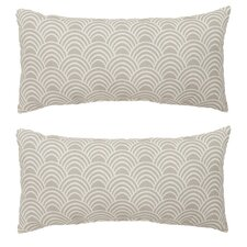 Scallop Outdoor Lumbar Pillow (Set of 2)