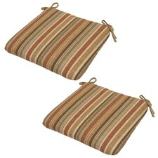 Cayenne Outdoor Dining Chair Cushion (Set of 2)
