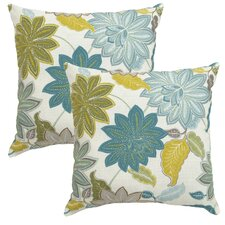 Cool Flower Outdoor Throw Pillow (Set of 2)