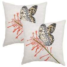 2017 Coupon Butterfly Outdoor Throw Pillow (Set of 2)