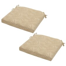 Roux Palm Outdoor Seat Cushion (Set of 2)